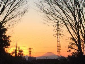 平和の森公園から富士山を望む